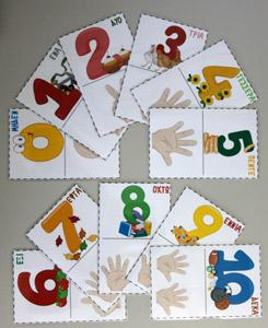 Καρτες με τους αριθμούς